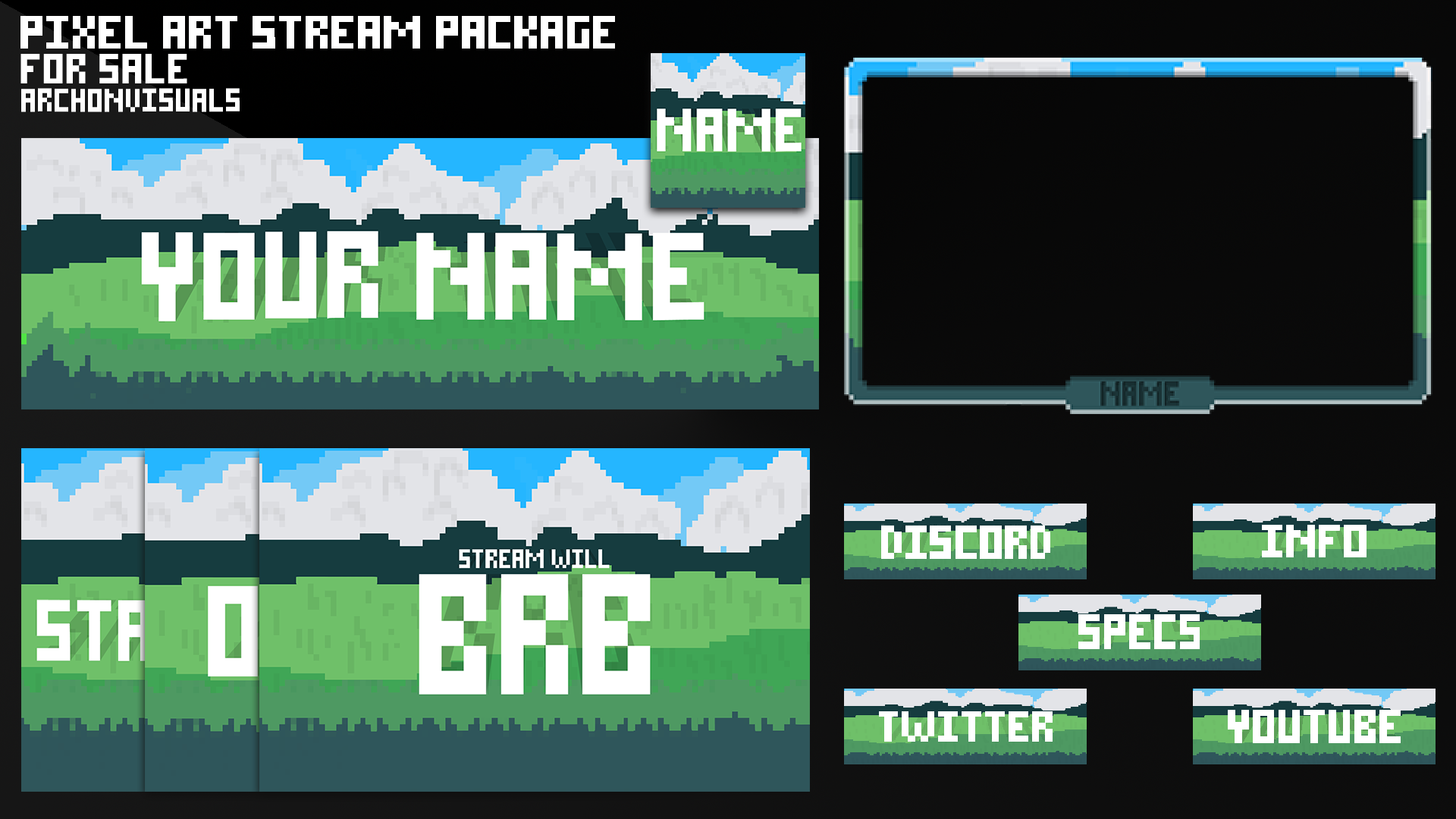 8 bit stream overlay package for sale