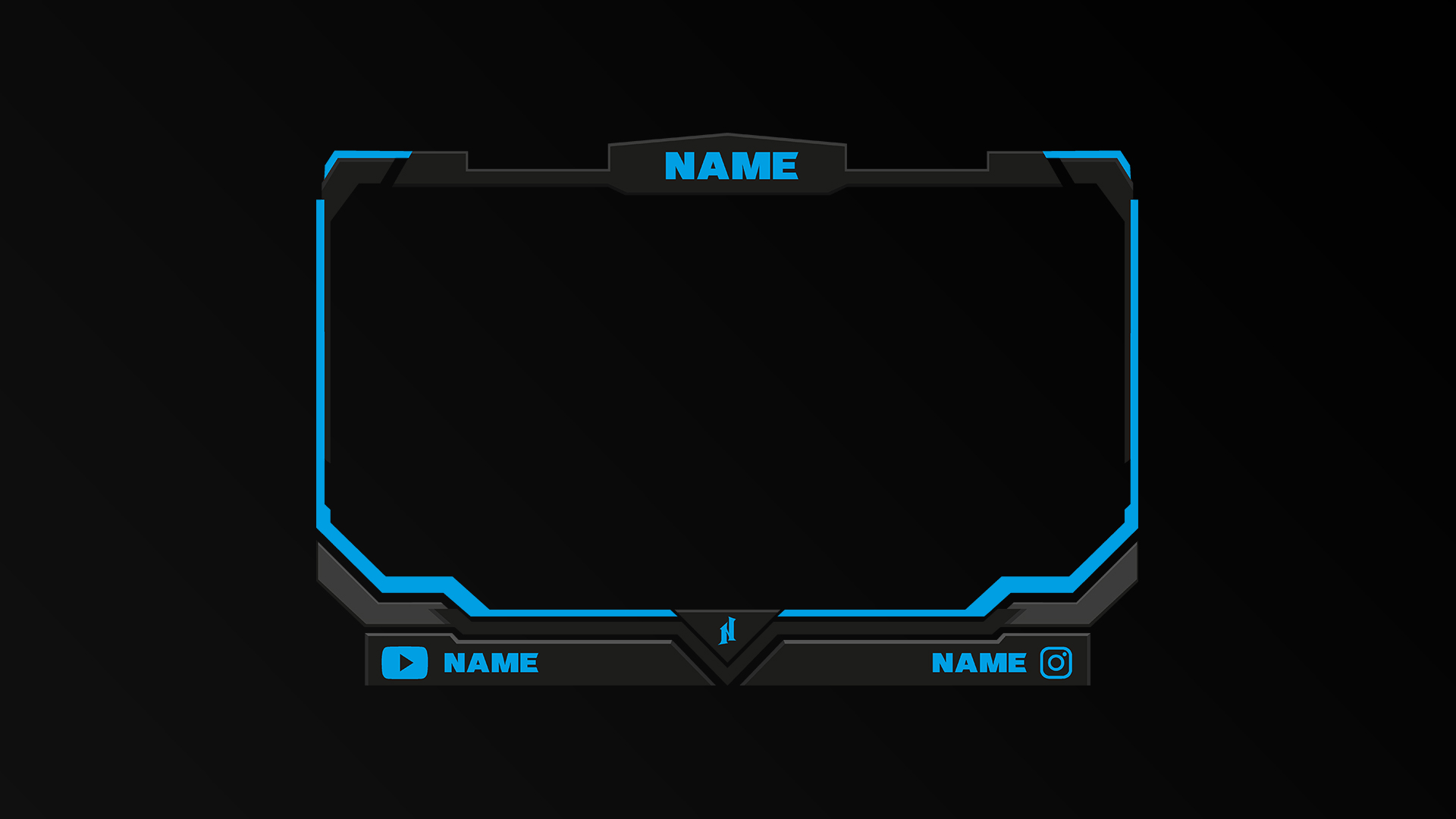 premade webcam streamer overlays