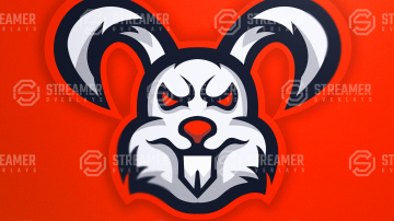 bunny mascot logo for sale Streamer overlays premade mascot esports logos for sale