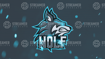 wolf mascot logo for sale Streamer overlays premade mascot esports logos for sale