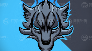 Lycan mascot logo for sale streamer overlays