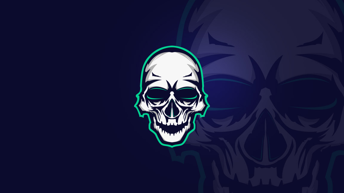 Premade esports skull logo for sale