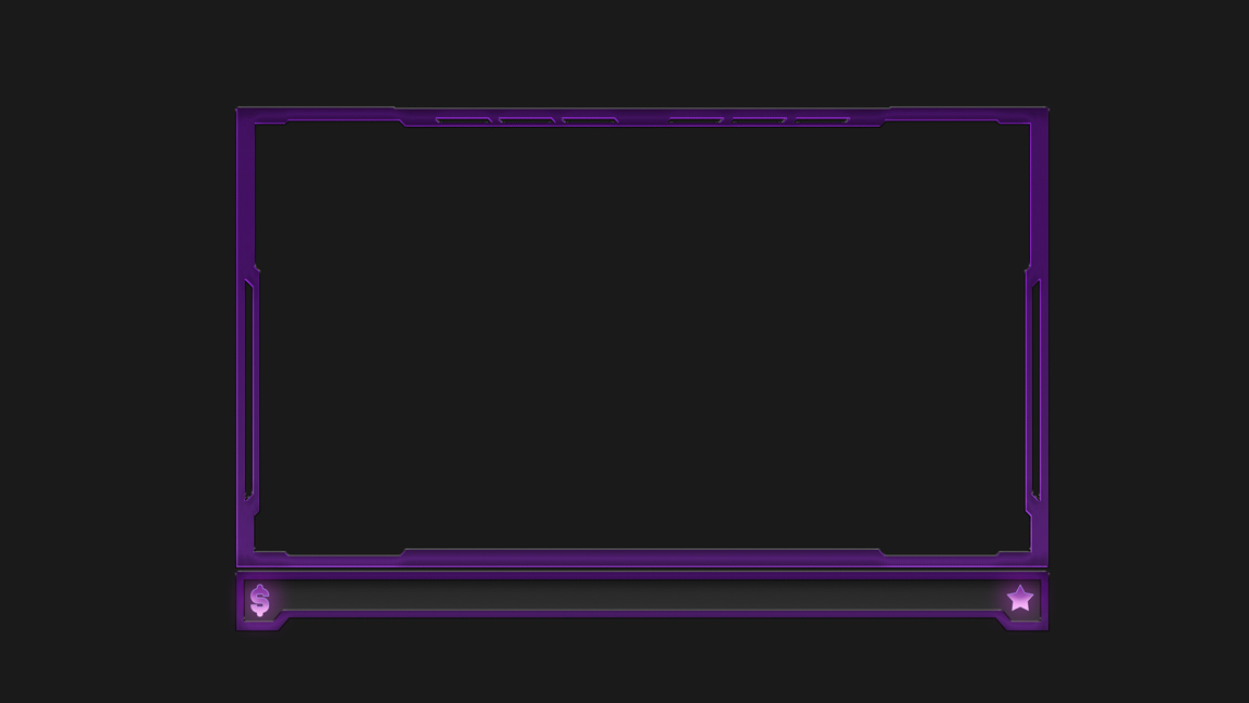 purple animated webcam overlay