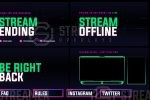Cyberpunk twitch overlay package
