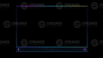 dark gradient webcam overlay streamer overlays
