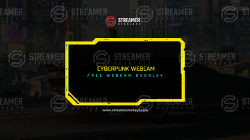 Free Cyberpunk webcam Overlay Streamer Overlays