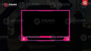 Free Pink webcam overlay | free animated pink webcam overlay | free Streamer overlay